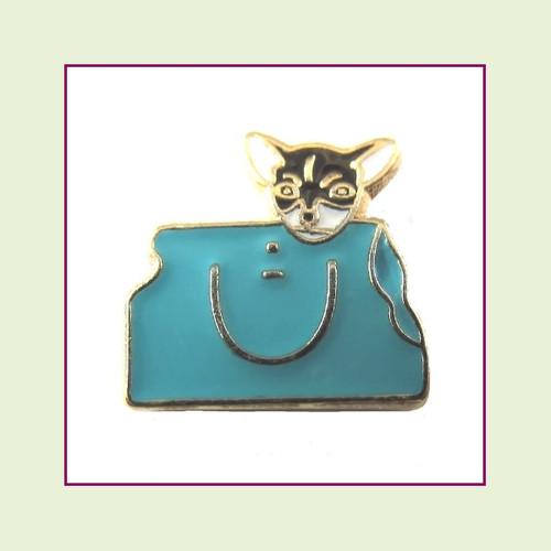 Chihuahua in Handbag (Gold Base) Floating Charm