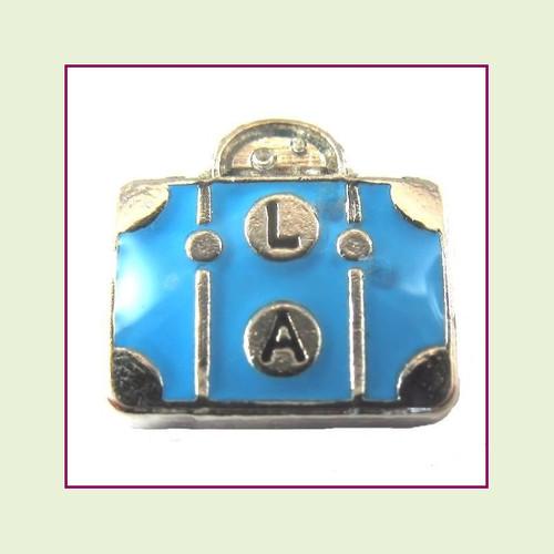 Travel Suitcase (Silver Base) Floating Charm