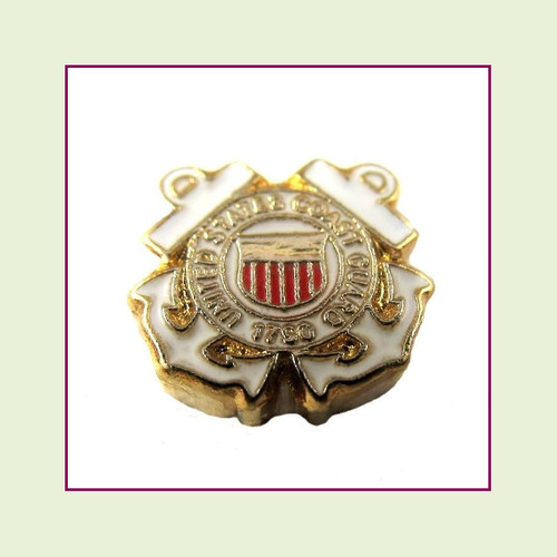 Coast Guard (Gold Base) Floating Charm
