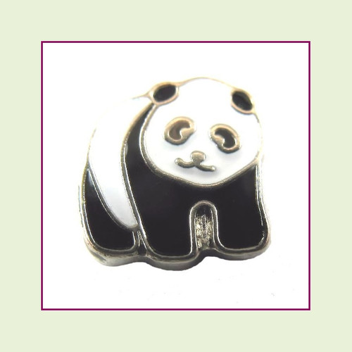 Panda Bear (Silver Base) Floating Charm