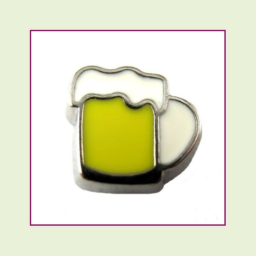 Beer Mug (Silver Base) Floating Charm