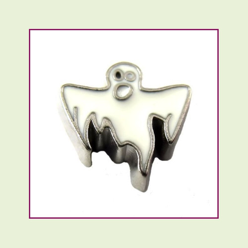 Ghost #2 (Silver Base) Floating Charm
