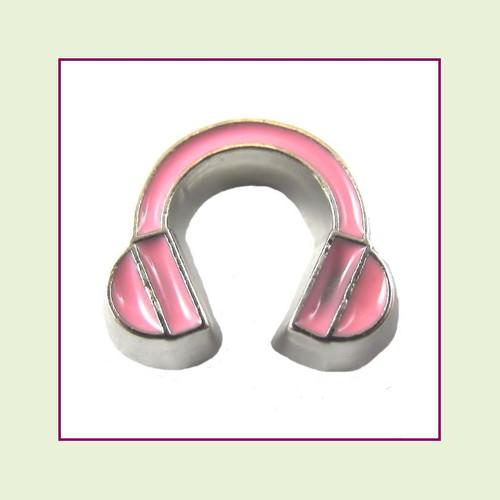 Headphones (Silver Base) Floating Charm
