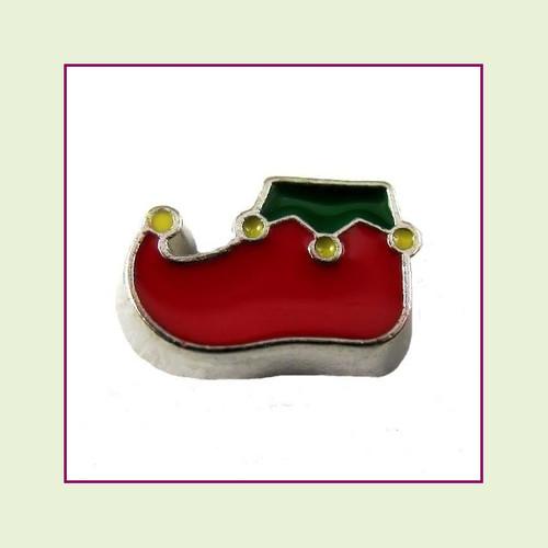 Elf Shoe (Silver Base) Floating Charm
