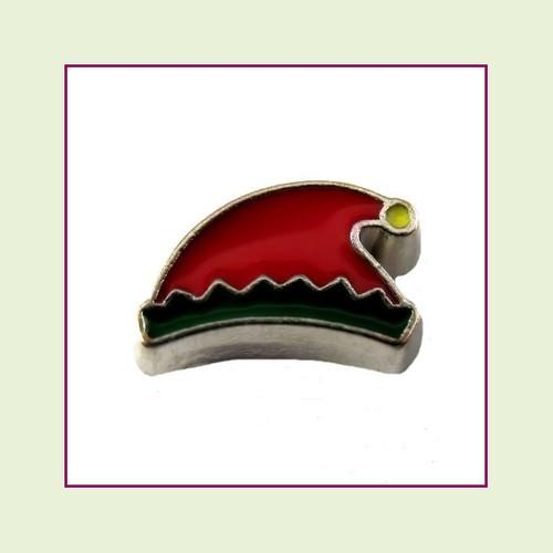 Elf Hat (Silver Base) Floating Charm