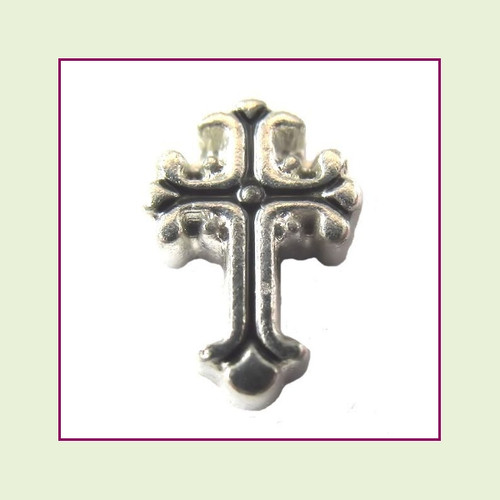 Cross Vintage (Silver Base) Floating Charm