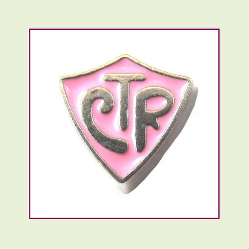 CTR Pink (Silver Base) Floating Charm