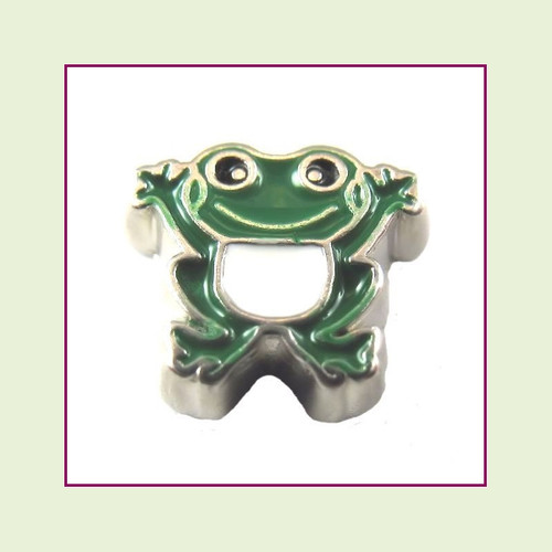 Frog (Silver Base) Floating Charm