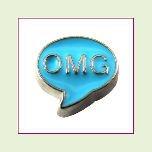 OMG (Silver Base) Floating Charm