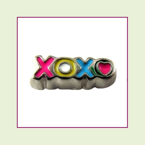 XOXO Colorful (Silver Base) Floating Charm