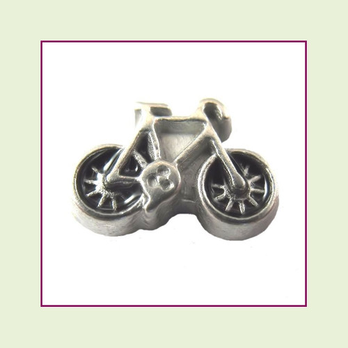 Bicycle Silver Floating Charm