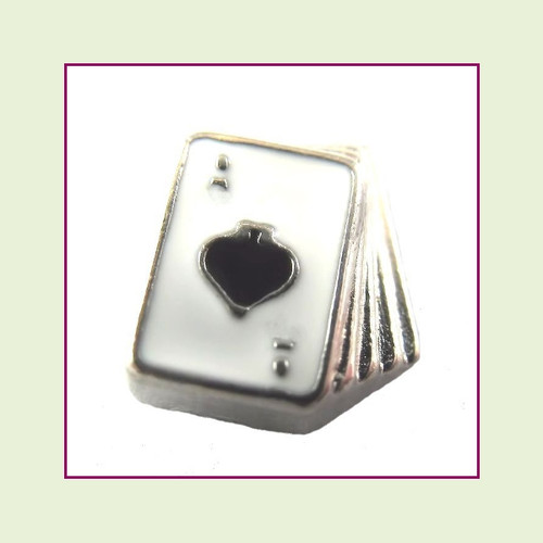 Deck of Cards (Silver Base) Floating Charm