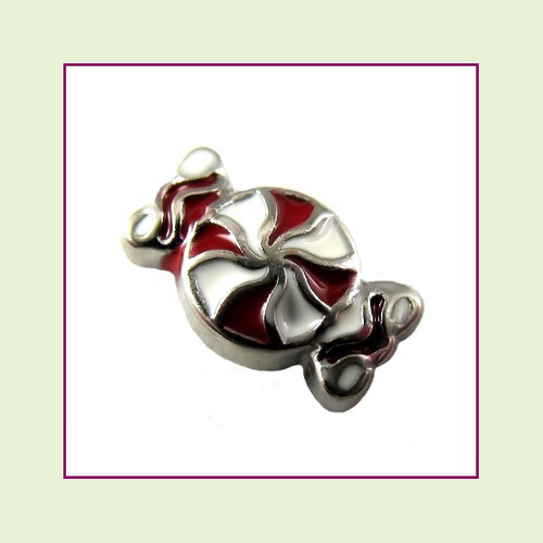 Peppermint Candy (Silver Base) Floating Charm