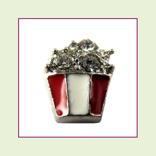 Popcorn (Silver Base) Floating Charm