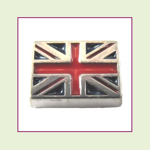 British Flag (Silver Base) Floating Charm