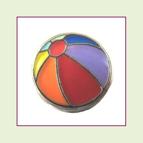 Beach Ball (Silver Base) Floating Charm