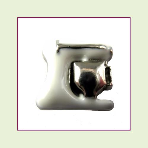 Kitchen Mixer White (Silver Base) Floating Charm