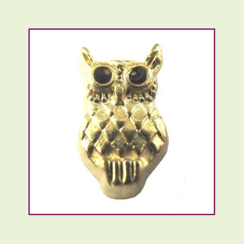 Owl Gold Floating Charm