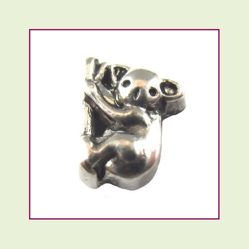 Koala Bear Silver Floating Charm