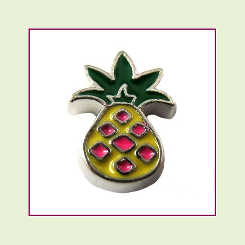 Pineapple (Silver Base) Floating Charm