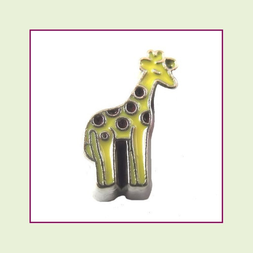 Giraffe (Silver Base) Floating Charm