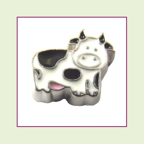 Cow (Silver Base) Floating Charm