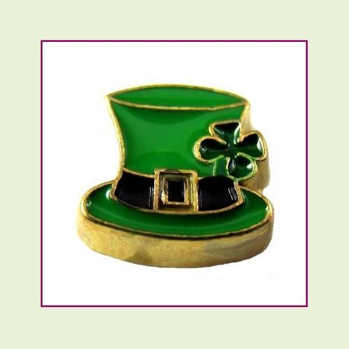 Leprechaun Hat (Gold Base) Floating Charm