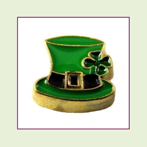 Leprechaun Hat (Gold Base) Floating Charm