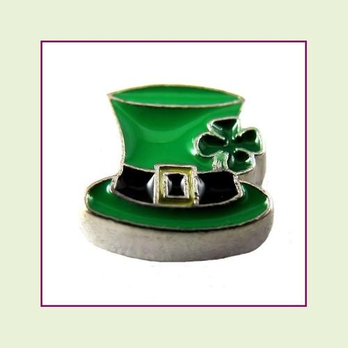 Leprechaun Hat (Silver Base) Floating Charm