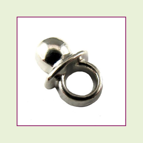 Baby Pacifier Silver Floating Charm