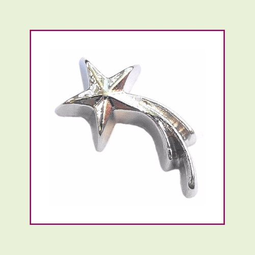 Shooting Star Silver Floating Charm
