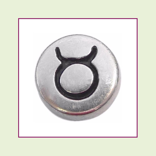 Zodiac Taurus (Silver Base) Floating Charm