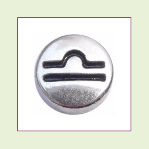 Zodiac Libra (Silver Base) Floating Charm