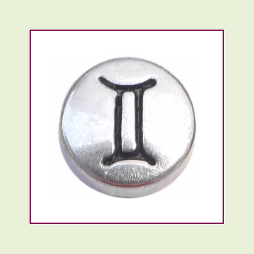 Zodiac Gemini (Silver Base) Floating Charm