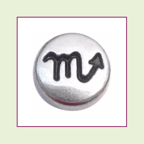 Zodiac Scorpio (Silver Base) Floating Charm