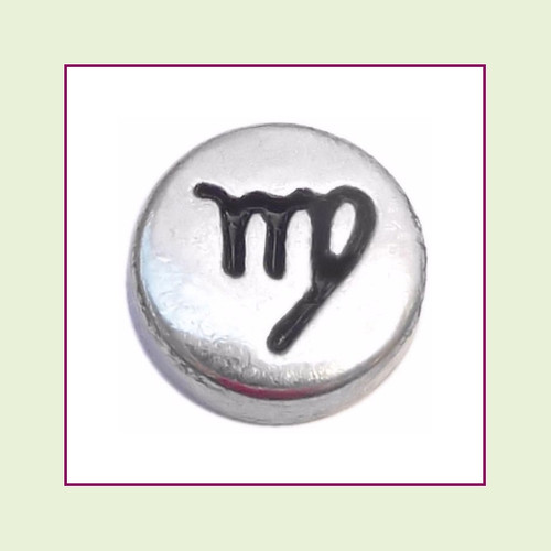 Zodiac Virgo (Silver Base) Floating Charm