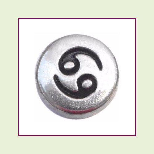 Zodiac Cancer (Silver Base) Floating Charm
