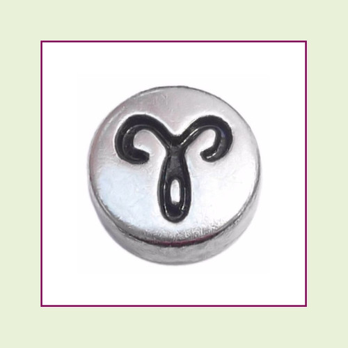 Zodiac Aries (Silver Base) Floating Charm