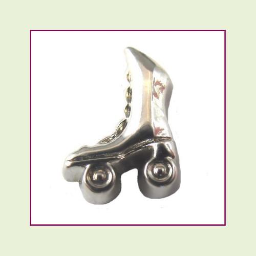 Roller Skate Silver Floating Charm
