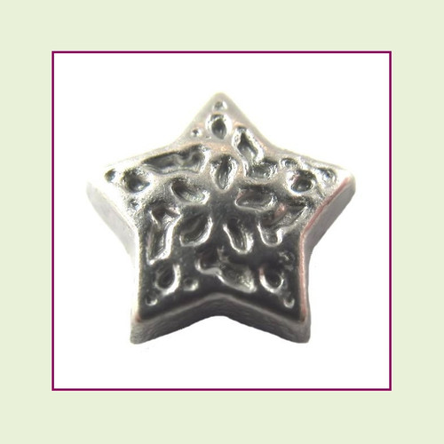 Decorative Star Silver Floating Charm