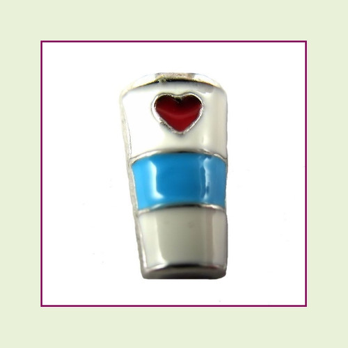 Coffee To Go Cup (Silver Base) Floating Charm