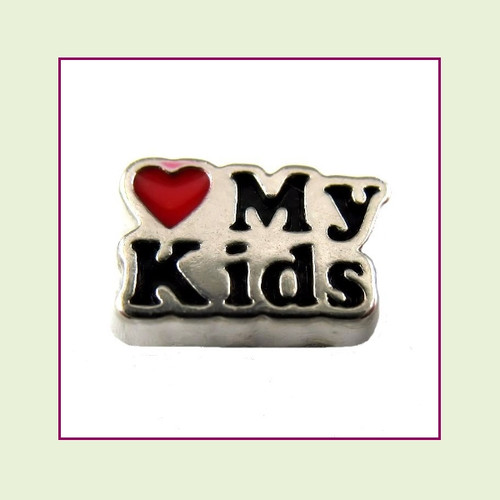 Love My Kids (Silver Base) Floating Charm