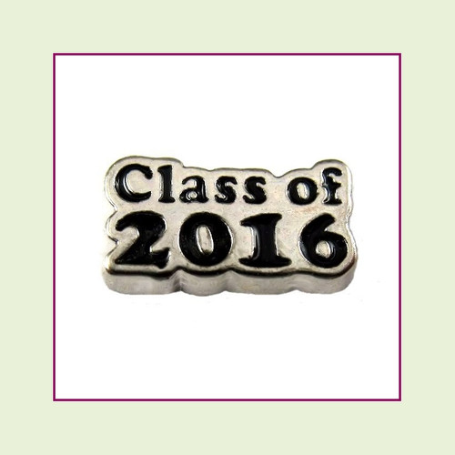 Class of 2016 (Silver Base) Floating Charm
