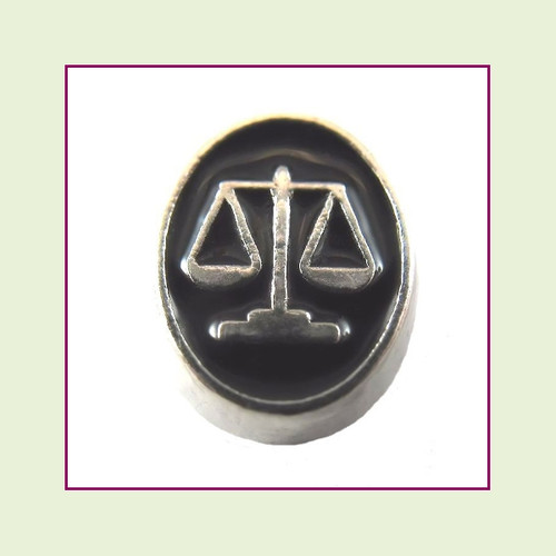 Justice Scales (Silver Base) Floating Charm