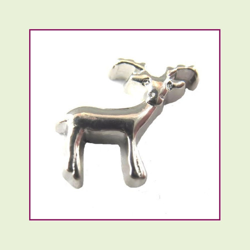 Buck Deer Silver Floating Charm