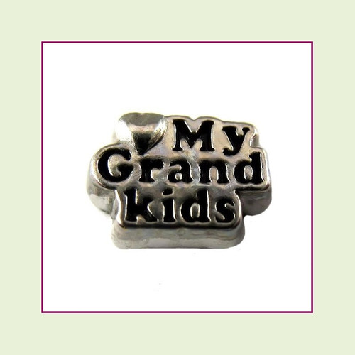 Love My Grandkids (Silver Base) Floating Charm