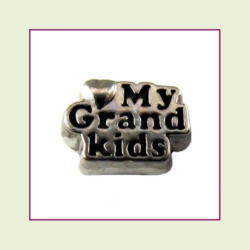 Love My Grandkids (Silver Base) Floating Charm