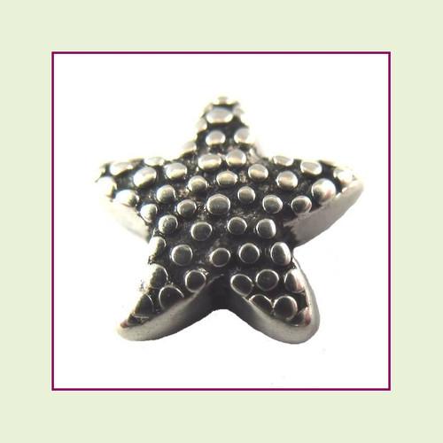 Starfish Silver Floating Charm