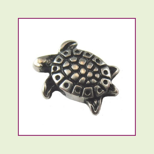 Sea Turtle Silver Floating Charm