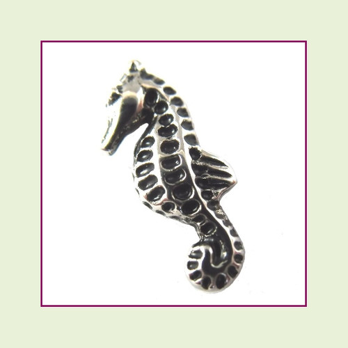 Seahorse Antique Silver Floating Charm